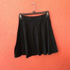 Basic black skater skirt